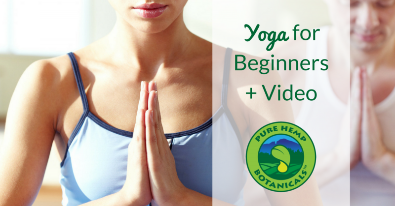 yoga beginner video cbd hemp pure hemp botanicals