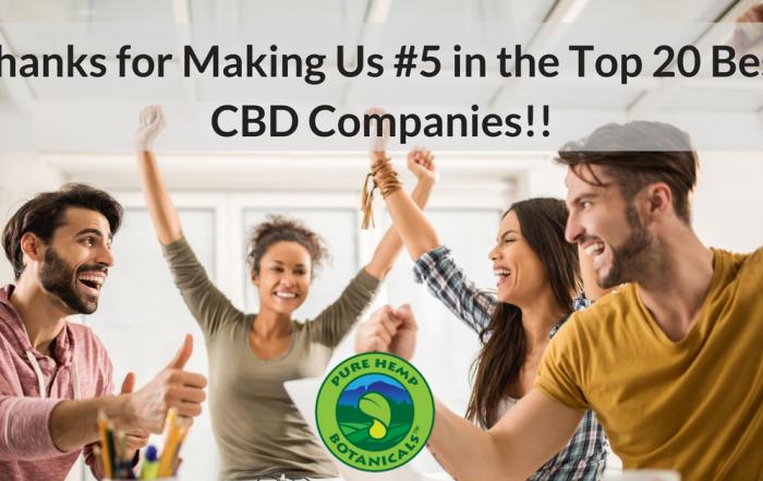 pure hemp botanicals, best cbd, organic cbd, lab tested cbd, top 20 CBD companies