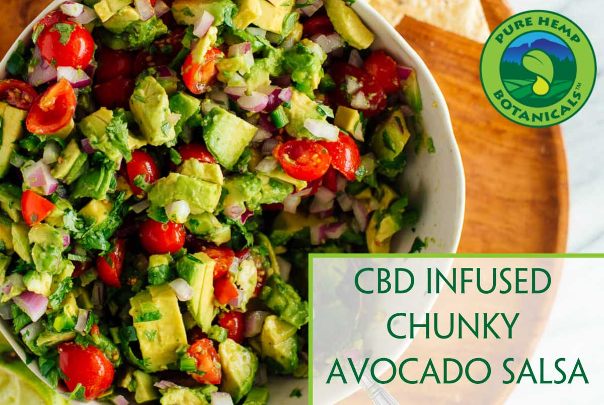 chunky avocado salsa with cbd