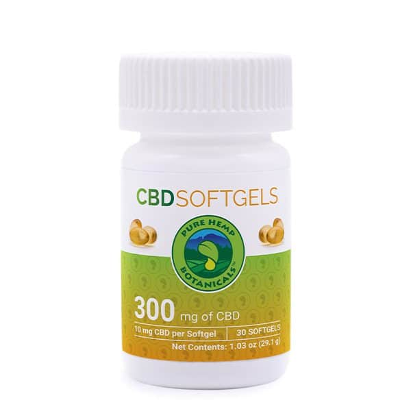 Pure Hemp CBD Oil Softgels 300mg