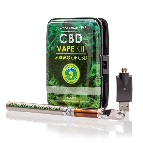 500mg Pure Hemp CBD Oil Top Flow Vape Kit