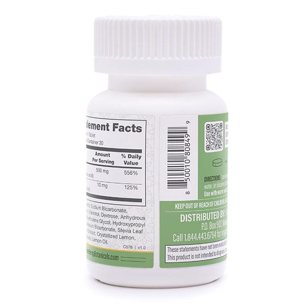 300mg Immune support ef. tabs side of bottle