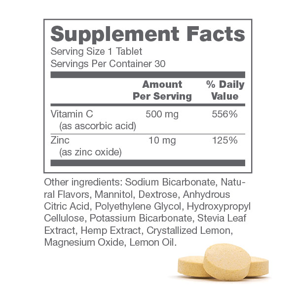 300mg Immune Ef. Tablets Supplement facts