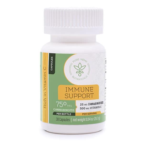 Immune Support Capsules CBD Vitamin C