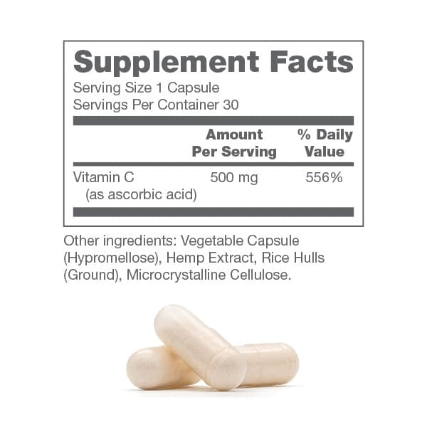 Immune Support CBD Supplement Facts
