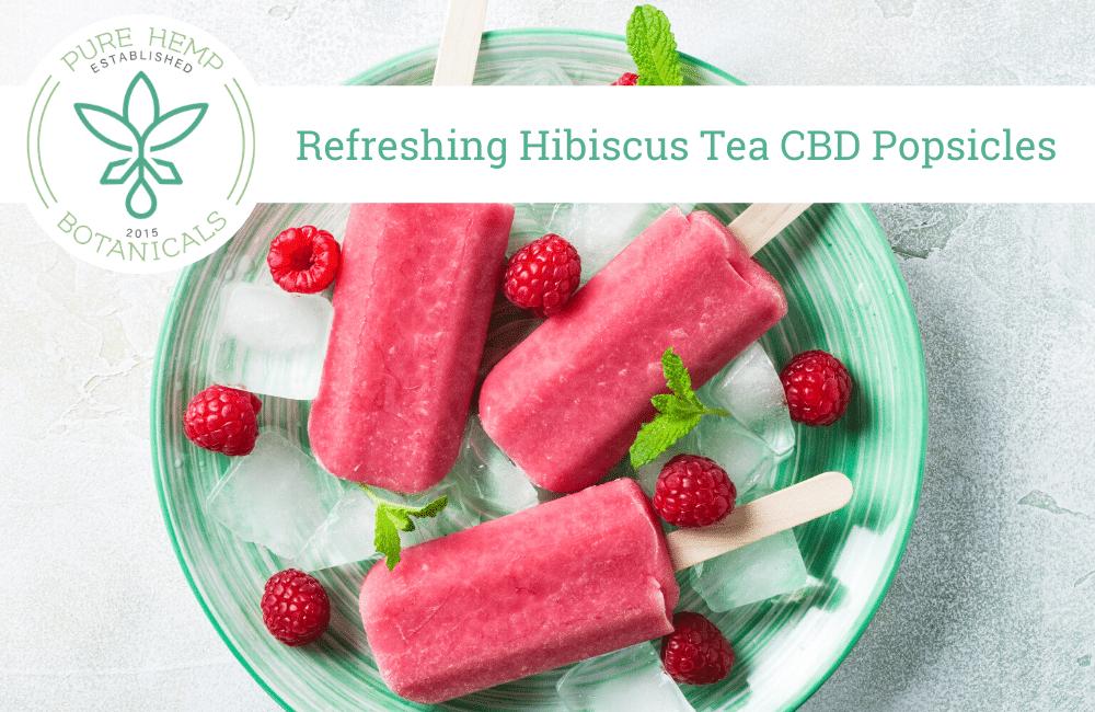 Refreshing Hibiscus Tea CBD Popsicles