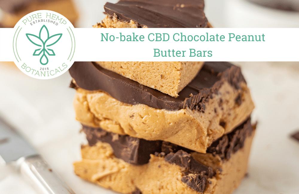No-bake CBD Chocolate Peanut Butter Bars