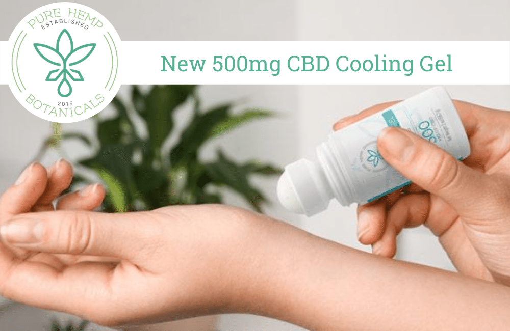 New Product 500mg CBD Cooling Gel Highlights