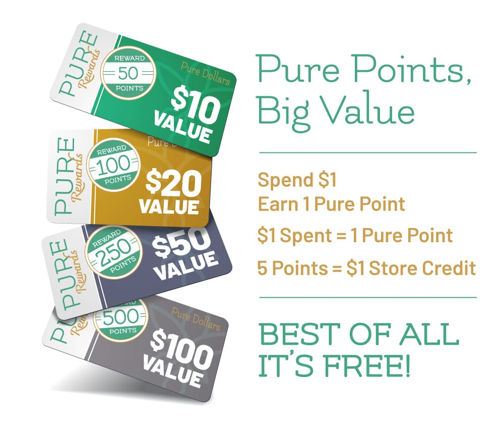 Pure Hemp Botanicals Pure Rewards Program
