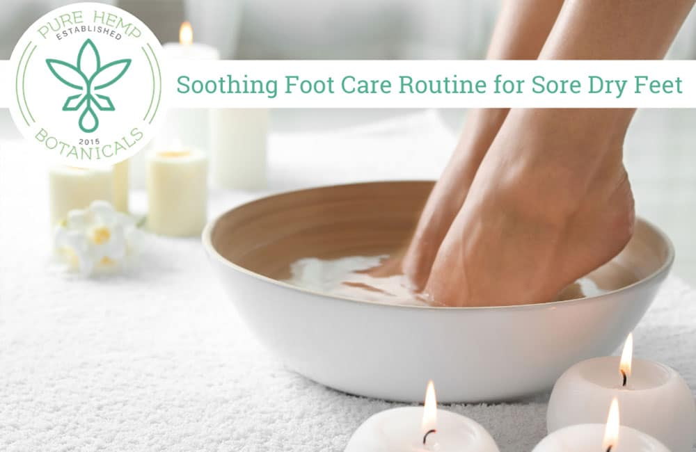 Soothing Foot Care Routine for Sore Dry Feet