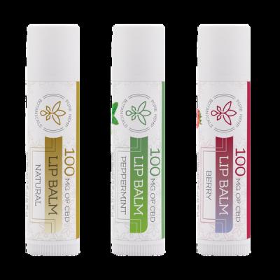 100mg CBD Lip Balm 3 flavors