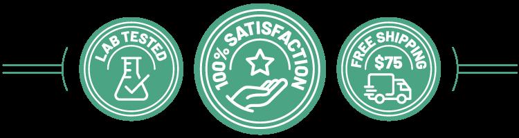 Satisfaction Gauranteed Money back