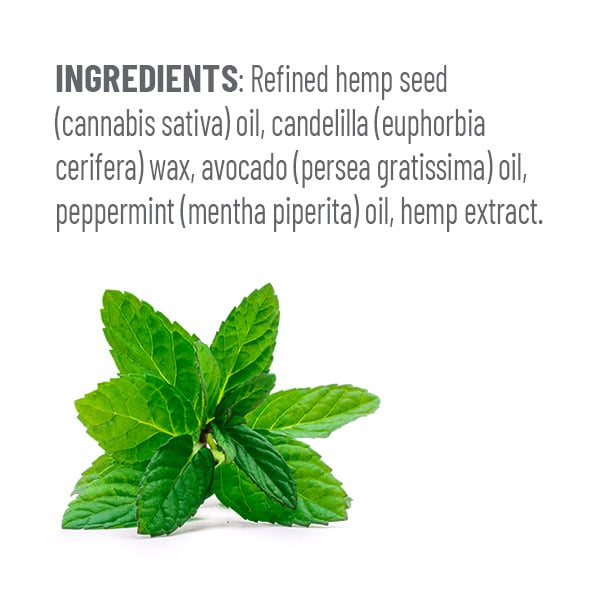 CBD Lip Balm Peppermint Ingredients