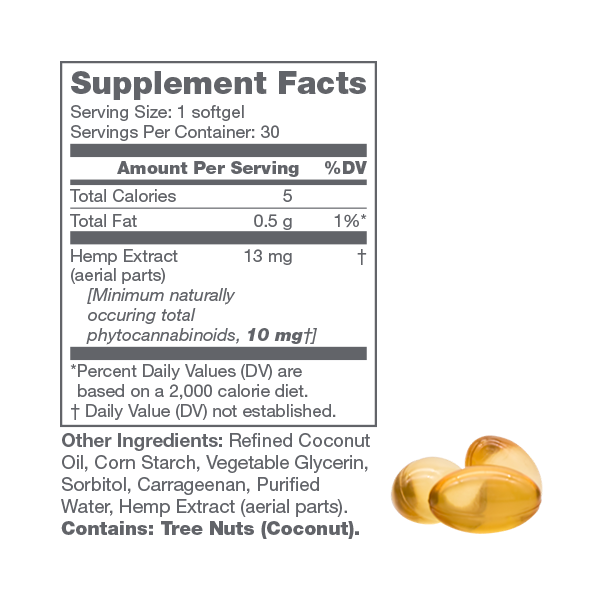 Supplemental Facts 300mg Softgel CBD
