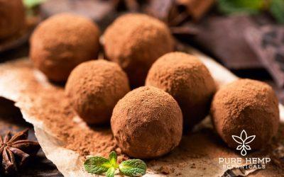 Decadent Chocolate Peppermint CBD Truffles