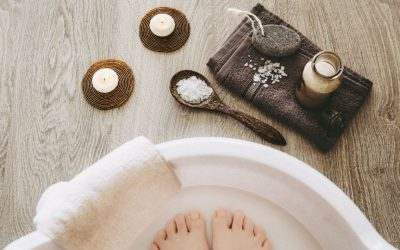 DIY Self Care for Stressed Feet with CBD