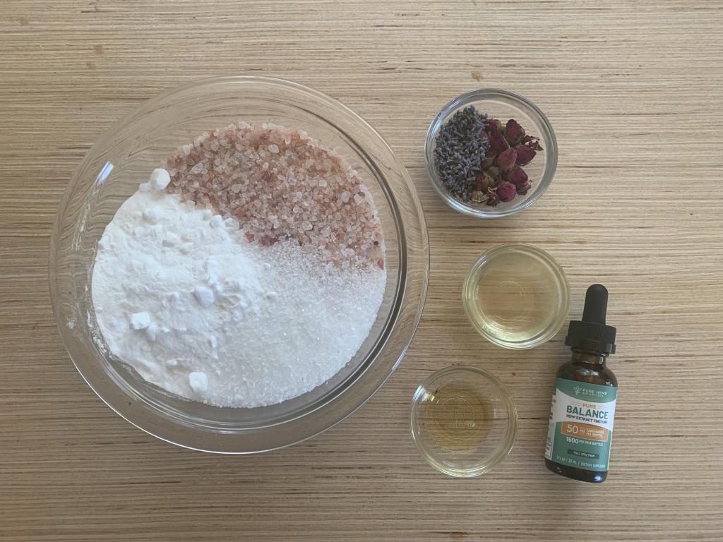 Homemade CBD Bath Salts